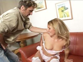 Mr. Boyfriend nibbles on her sphincter